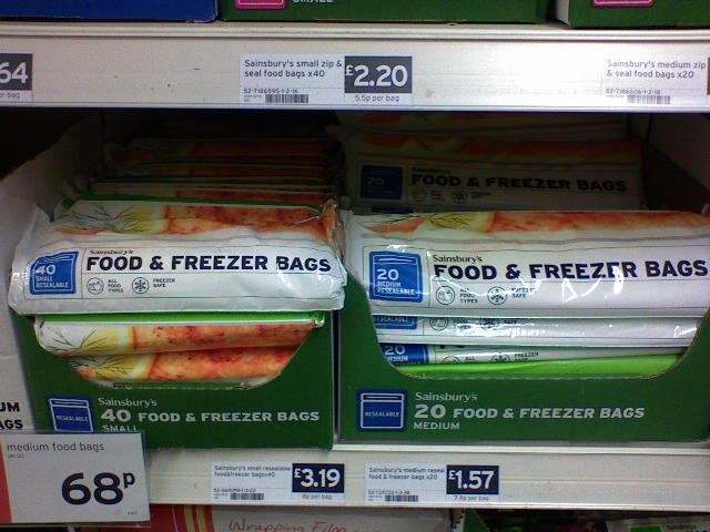 Resealable freezer bags. A travelling essential. The small ones are usually the right size for the 20 cm x 20 cm bag required to carry liquid based products through airport security