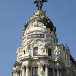Arguably the most stunning building along the Gran Via - the Metropolos Building (alas, minus any rings of electricity pulsing up and down its length)