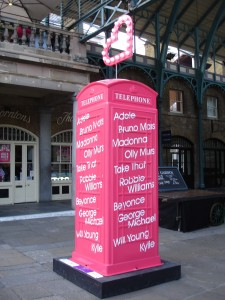 "Radio station Heart 106.2 FM's design in Covent Garden. ""Give it some heart""? I would have given it some more imagination."