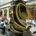 "Making delayed travellers feel more comfy: Zaha Hadid's ""Perspicere"" BT Art Box by the Eurostar terminal, St Pancras"