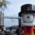 Now it's the turn of the Paralympic Agitos for Beefeater Mandeville to guard with pride