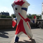 Mandeville near County Hall, showing his allegiance to France. Only joking (it's to Belize).