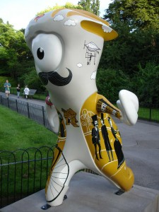 Daley Thompson may well be the most handsome mustachioed GB Olympian, but Victorian Park Mandeville is certainly the most handsome mustachioed GB Olympic mascot (don't tell Wenlock). Regent's Park
