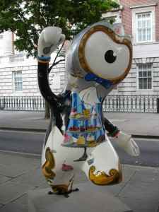 Clumsy Afternoon Tea Wenlock has cake all down his front! Grosvenor Square