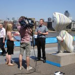 Arty Wenlock, just by Tate Modern being interviewed by Australia's Channel Ten news team