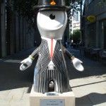 One banker you just couldn't bring yourself to hate as he's too adorable: City Wenlock along Cheapside