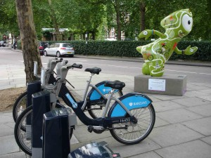 Cycling Wenlock aptly placed near Grosvenor Square