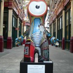 Such a shame Leadenhall Market Wenlock is hidden down one of the market's side alleys, as he missed the Ladies Olympics Marathon passing through there earlier (5th August 2012)