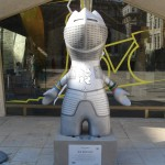 Which knight is Sir Wenlock impersonating here? Is it Danny Boyle or Bradley Wiggins?  We bow before thee oh Great and Noble One. By the Guildhall