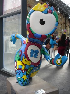 Spitalfields Wenlock with time on his hands (hawh hawh!)