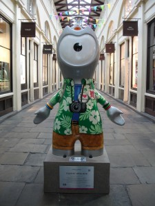 What's all this I hear about businesses in Central London suffering during the Olympics because there's no one in town? There are loads of tourists around. Here's one (and only one) in Covent Garden
