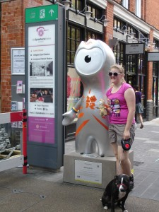Life can be 'ruff' when your owner suddenly becomes smitten with an Olympic mascot. Poor pooch: Spitalfields Market