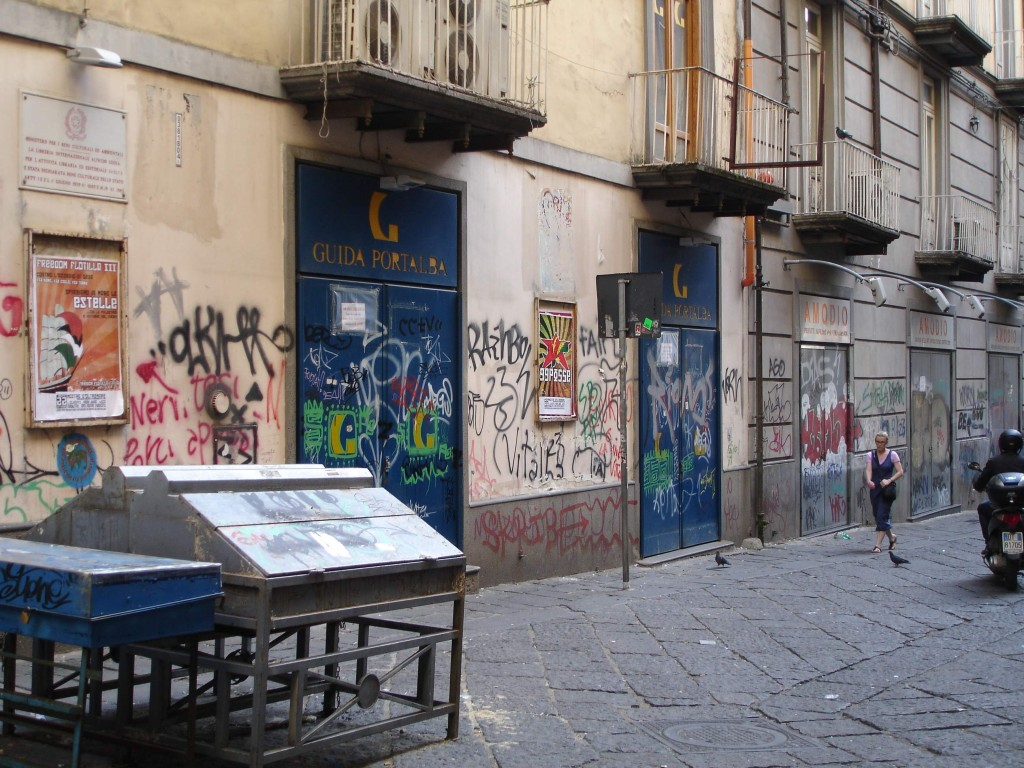 ... but the most prolific form of graffiti found in Naples is 'tagging'. It is absolutely everywhere