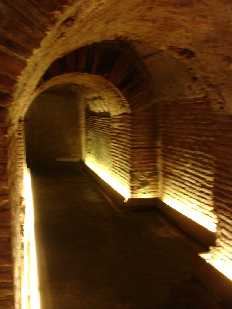 So did the old woman know she was living above a perfectly preserved Roman Amphitheatre? (apologies that the photo is rather blurred)