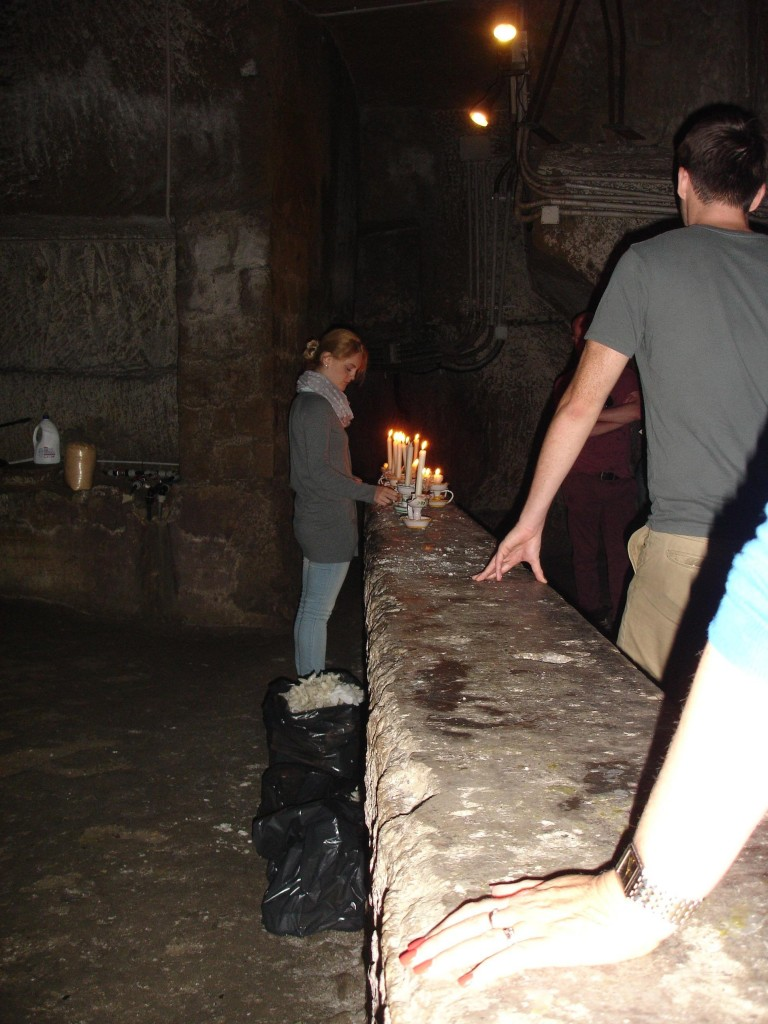 The passageways are well lit both by electrical means and more traditional methods