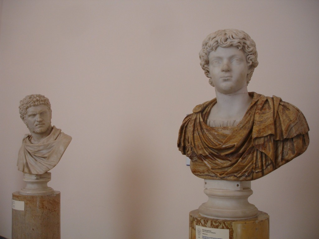 Young Caracalla clearly not impressing older Caracalla (left)