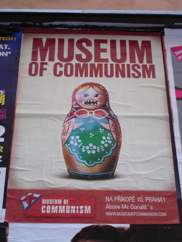 The Museum of Communism situated above the restaurant of Capitalism (bottom right). Would you like fries with that?
