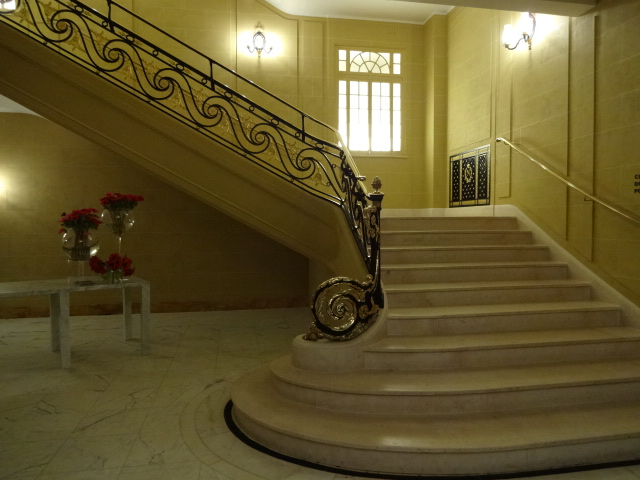 I so wanted to swish down this stairway in a long ballgown, but had to settle with clomping down them in the scuffed old boots and jeans I was wearing at the time