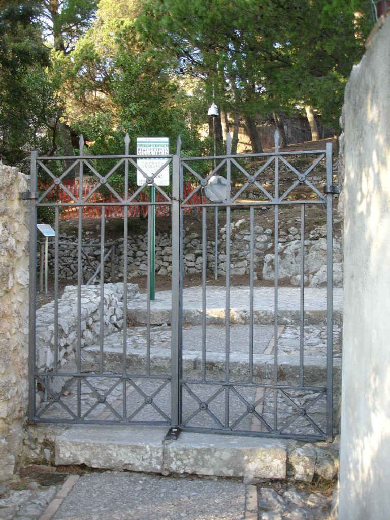 The closed gates of Villa Jovis. The caretaker gave me a rather stern look when I grabbed the chained gates and took my frustration out on them after spending 90 minutes walking to the villa not knowing it had actually closed to the public three hours earlier (and not knowing he was actually standing nearby before I started my tantrum)