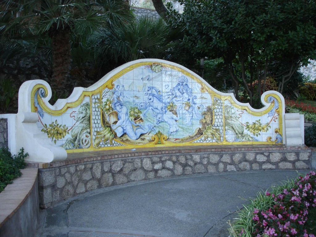 Who wouldn't want to take a break from exploring to sit on this ornate park bench (even if one's bottom cheeks may suffer as a result)? One of several beautiful public benches dotted around the island.