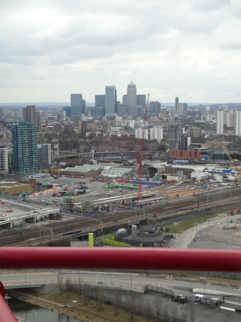 Canary Wharf from the top of The Orbit