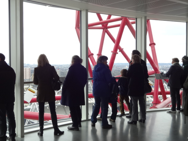 Looking over London from the top platform of The Orbit