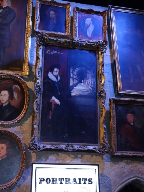 A selection of the original portraits from the Hogwarts Portrait Room, including one of Blackadder II ...