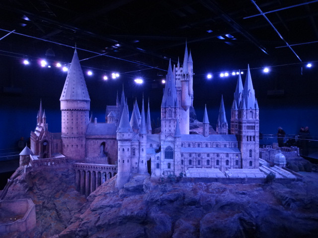 ... and the three hour tour ended with a peek at the stunning model of Hogwarts used in the movies