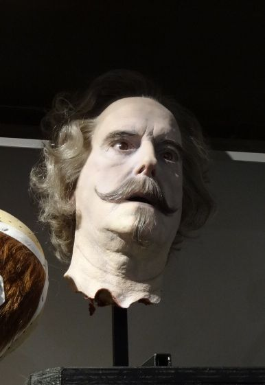 'Tis just a flesh wound. John Cleese's Nearly Headless Nick mask, one of many original masks, prosthetics and life size models of the cast on display in studio K