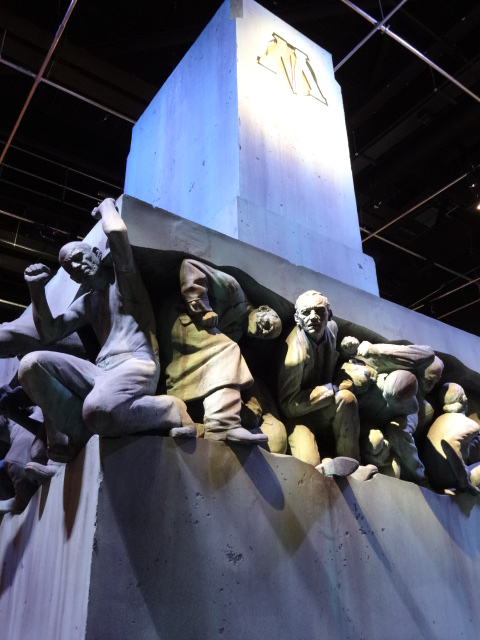 The sinister 'Magic is Might' statue from the Ministry of Magic was like something out of Communist Russia. Unlikely to be a coincidence, one of the figures looked remarkably like Lenin (second from the left)