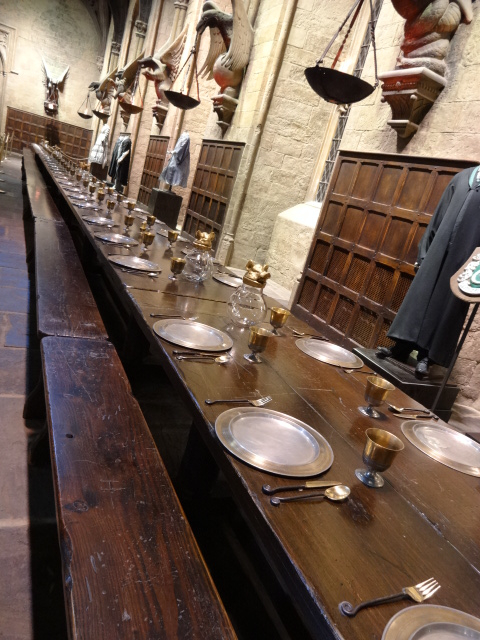 I wasn't very impressed with the authenticity of the dining benches in the Great Hall: no decent graffiti etched into the wood, and no chewing gum stuck under the table