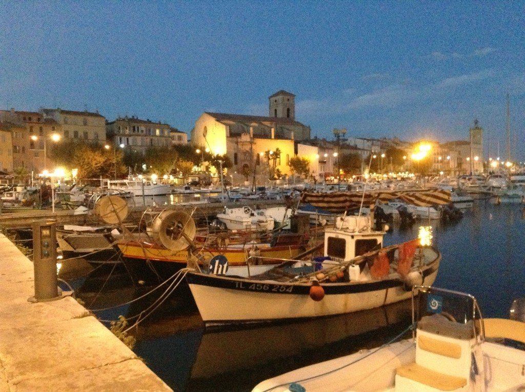 The pretty, unassuming town of La Ciotat by night