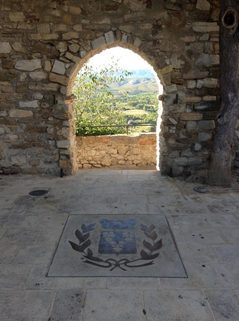 'Le Trou de Madame' - or 'The Lady's Hole' in English (stop sniggering) - was an observation point within the fortified walls of the village where for many years the lady of the castle stood and kept watch daily, waiting in hope for the return of her son after war. Sadly, he never returned