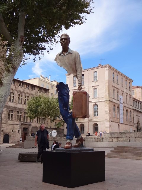 'J4' - one of several poignant pieces by Bruno Catalano in Rue de la Mairie