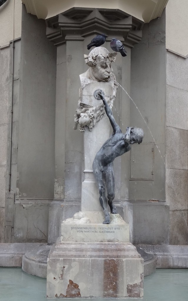 Brussels may have the Manneken Pis, but Munich likes to take the .... This fountain near Karlesplatz features a satyr spitting on a young boy in response to him trying to stop the satyr peeing (apparently)