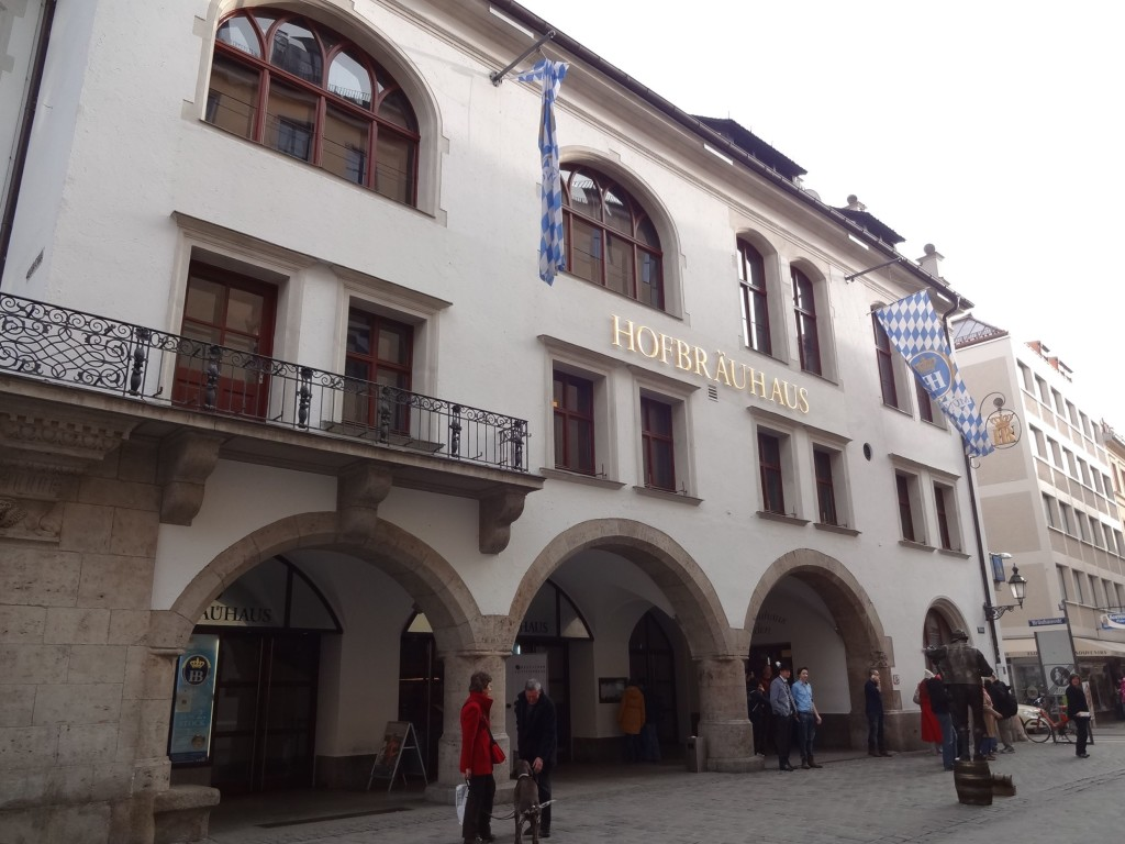 The Hofbräuhaus am Platzl, or 'Hofbrauhaus' for short. Munich's oldest beer hall, serving beer since 1589