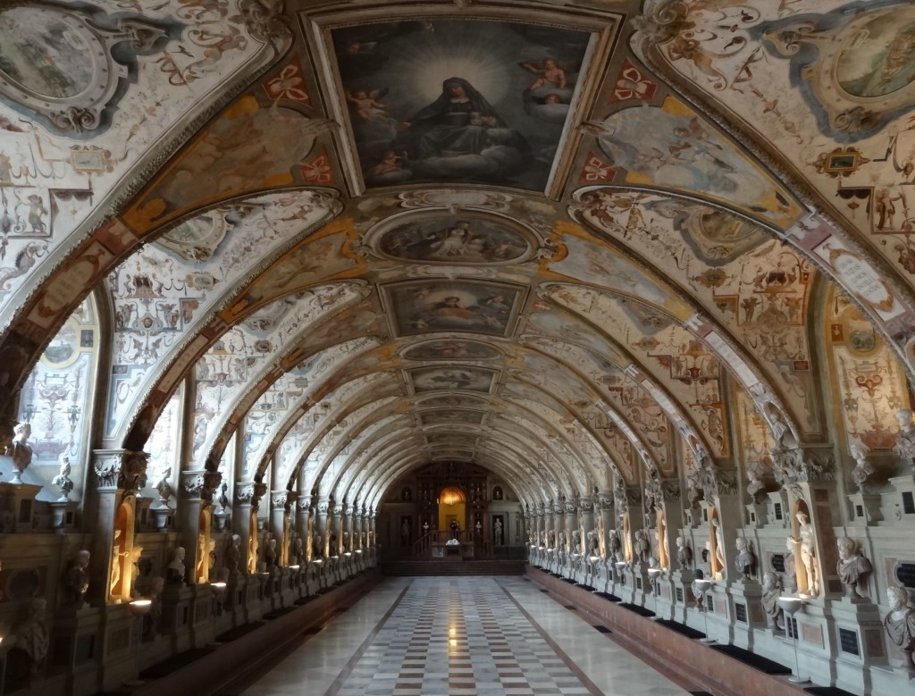 The breath taking Antiquarium inside the Residenz, beautifully restored after severe bomb damage during the war ...