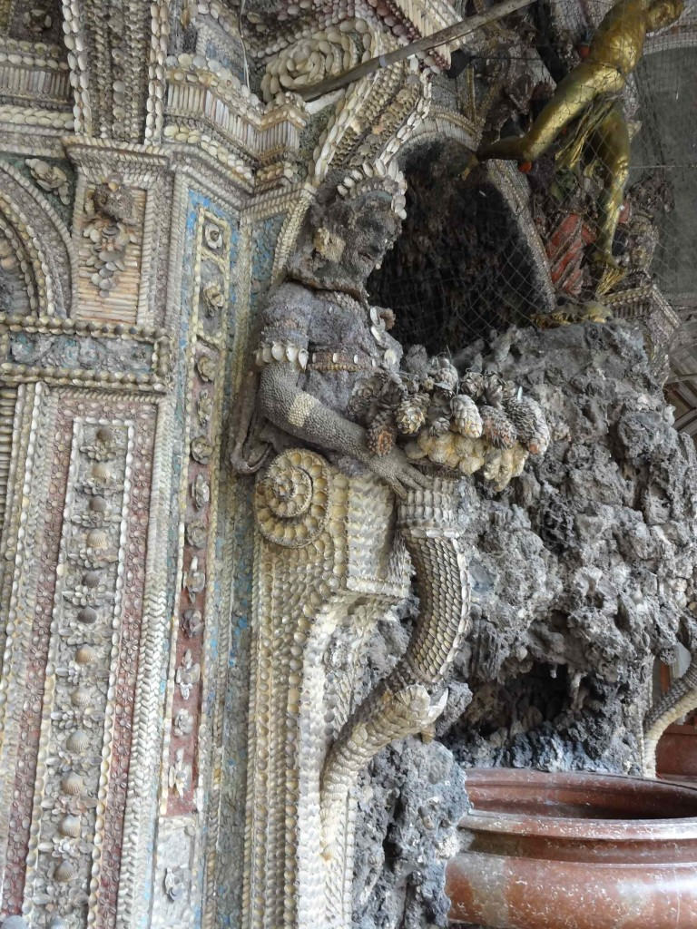 I couldn't help but see actor Donald Pleasence in this detail of the eerily beautiful grotto inside the Residenz Palace