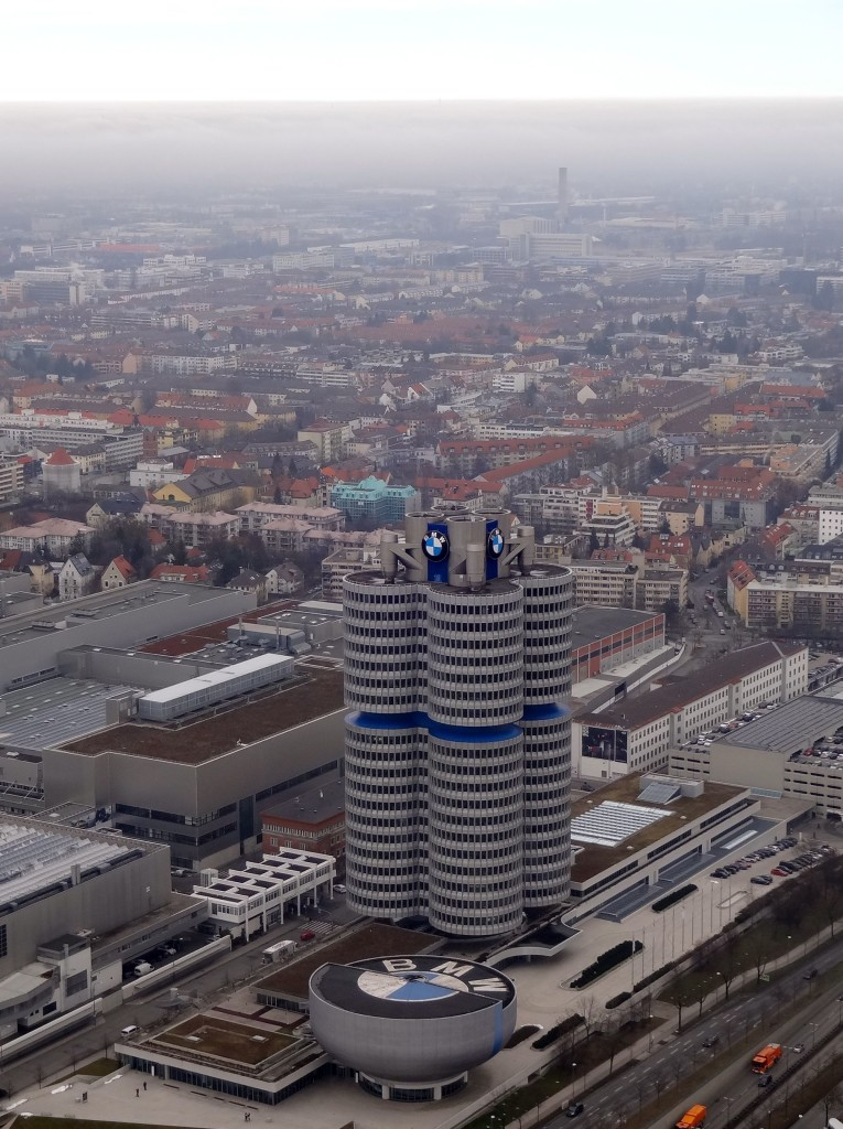 The BMW headquarters and Welt just a stones throw away from the Olympic park
