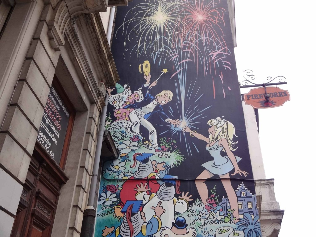 ... and yes, coincidentally the building in which this mural is painted on the side of, houses a fireworks shop