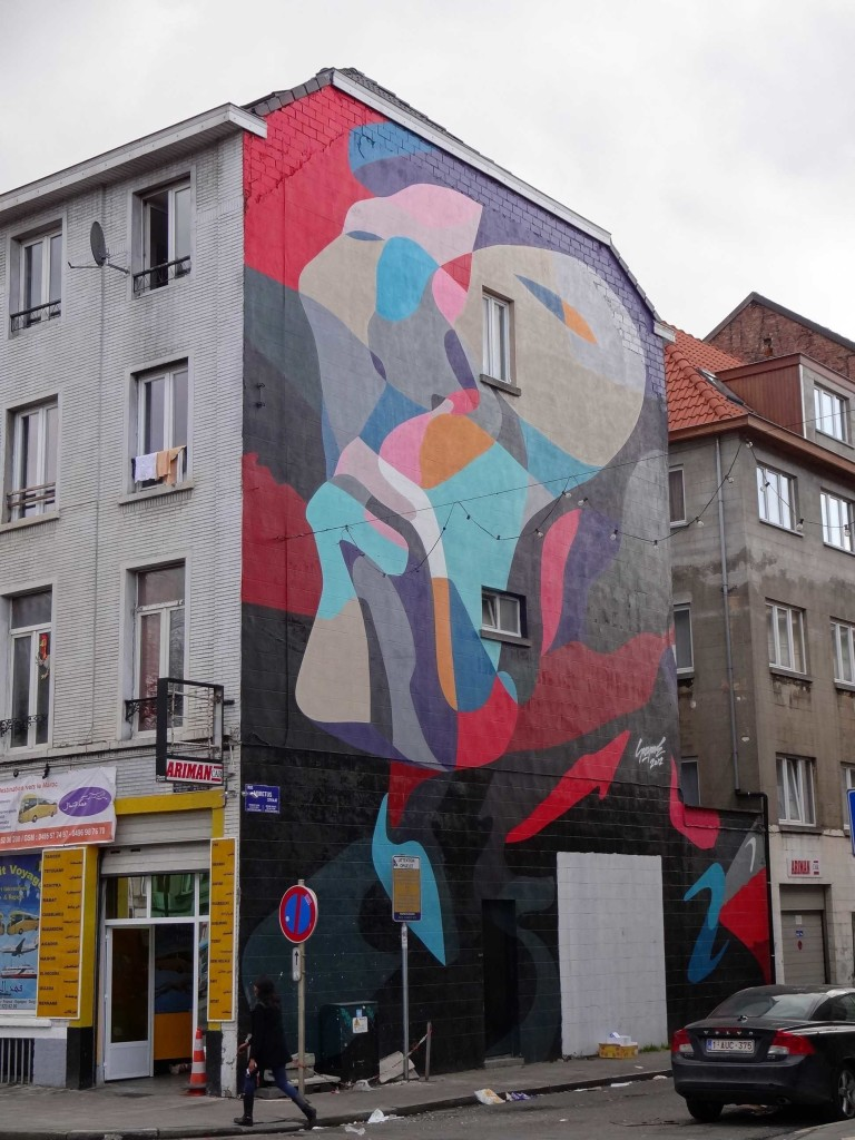 A nameless piece by Sozyone, Rue Moretus (another unofficial mural?)
