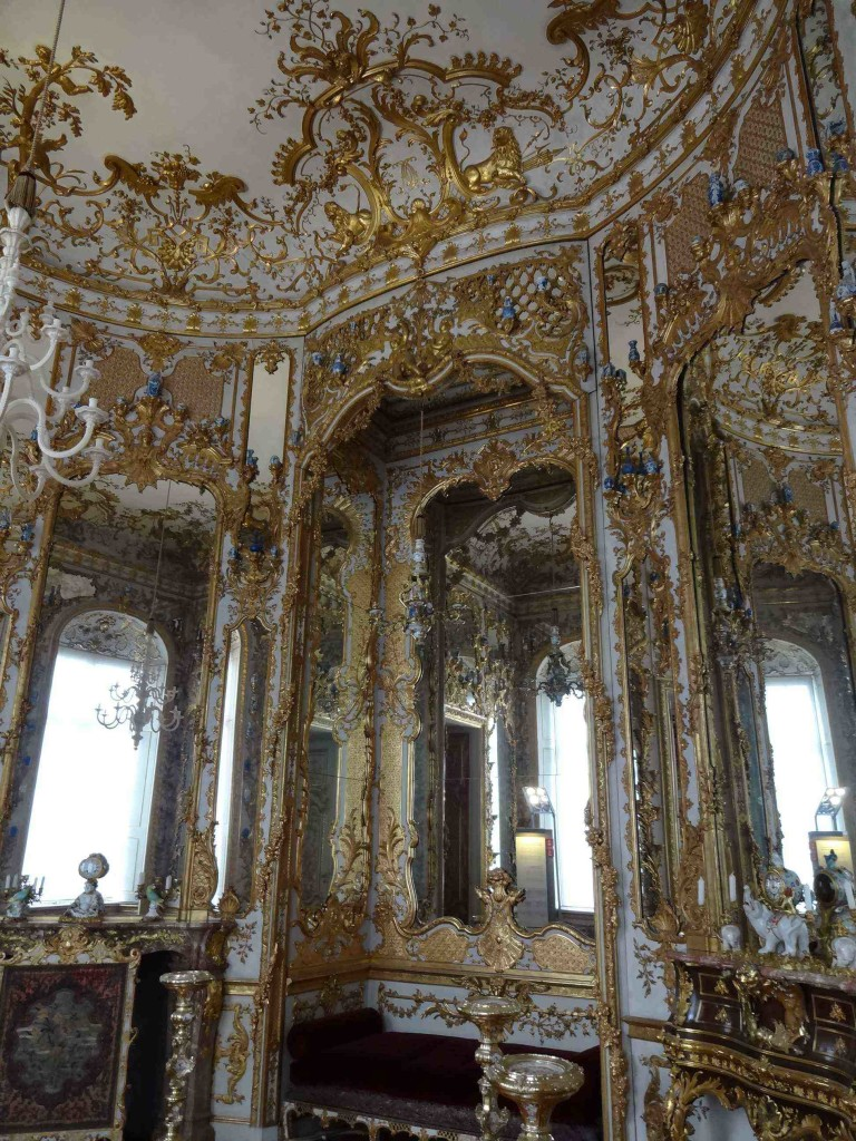 The exuberant rococo Cabinet of Mirrors and Porcelain next to the State bedroom ...