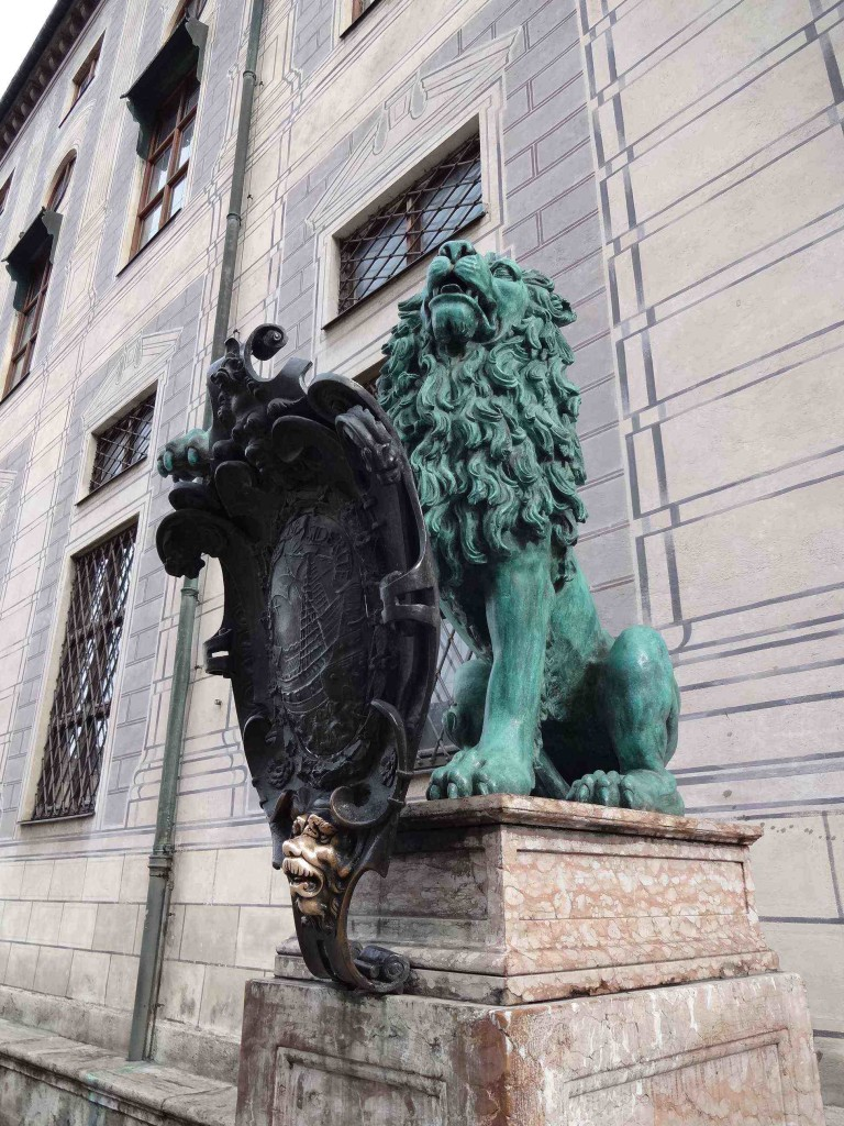 Guarding the entrance to the Residenz