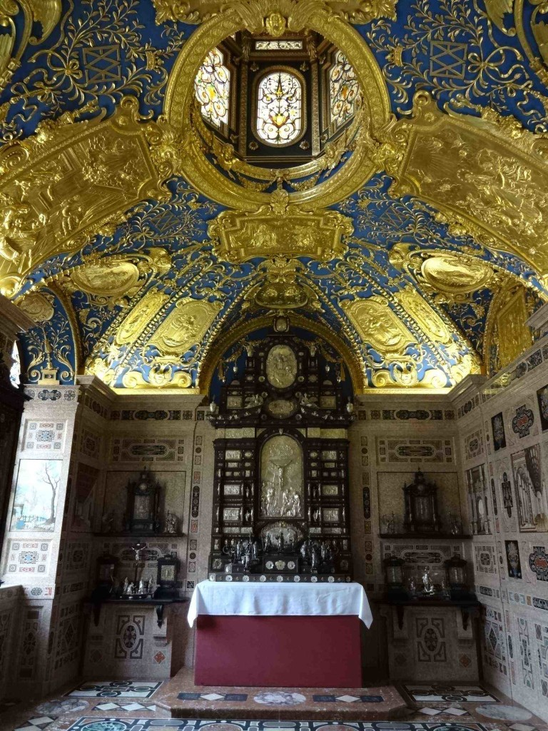 The Ornate Chapel also destroyed during the war has been painstakingly restored to its former glory