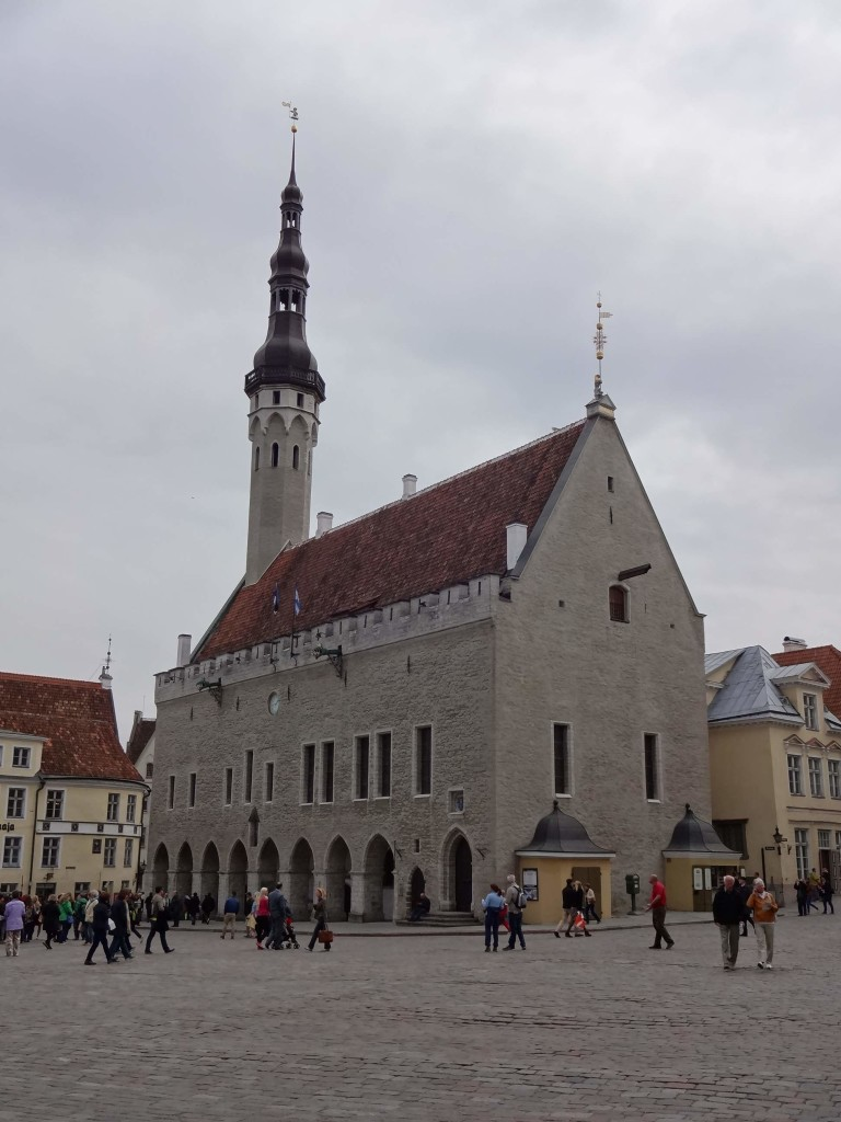 Tallinn's stunning Gothic Town Hall (the last surviving Gothic town hall in northern Europe) in the heart of the Old Town, built between 1371 and 1404