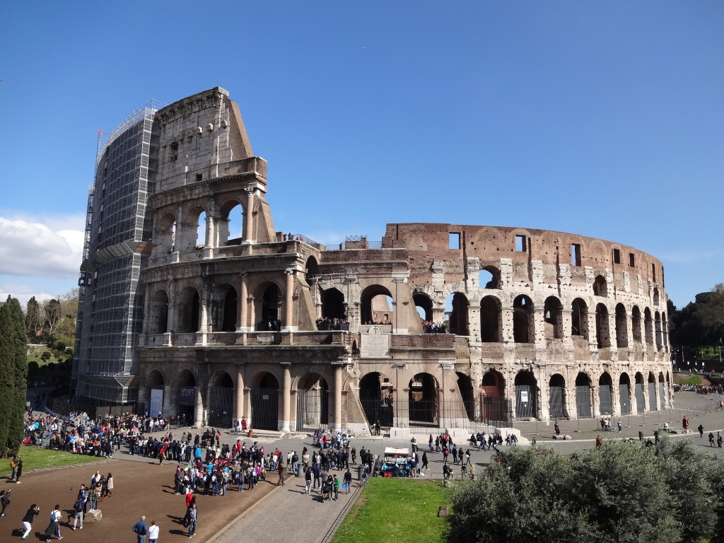 The Flavian Amphitheatre in Rome, better known as the Colosseum