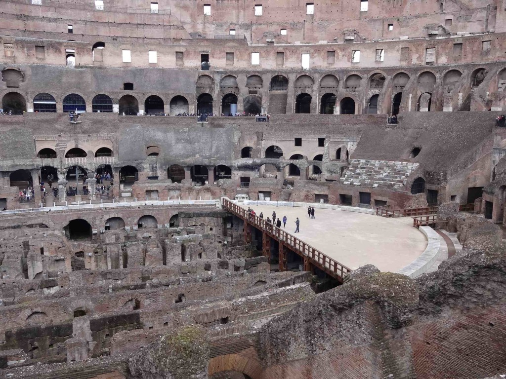 Part of the arena floor has been restored, and smaller tour parties are allowed access to this and the underground chambers if booked in advance