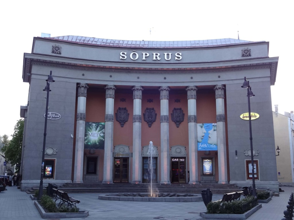 Estonia's oldest cinema the Sõprus in the heart of Tallinn, the last remaining Stalinist building in the capital