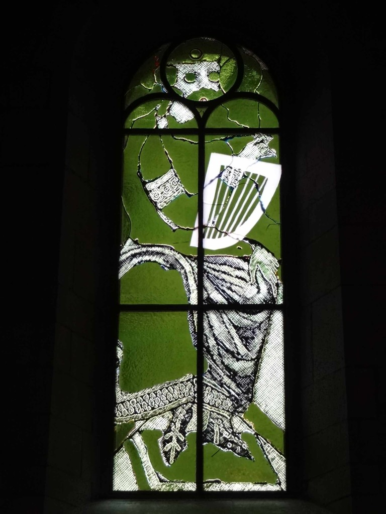 'King David' (and not St Patrick as I initially thought it was. I guess the green and the harp made me think of Ireland)