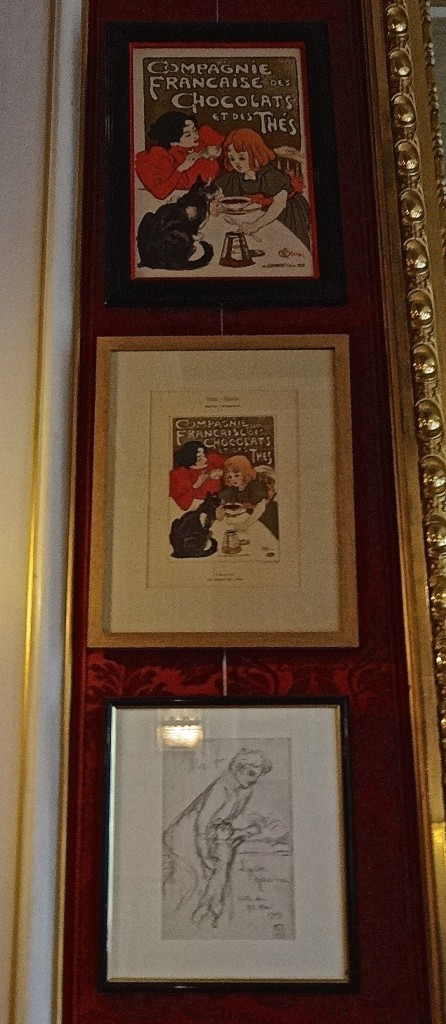 Prints of Steinlen's famous Compagnie Francaise poster with an original preliminary sketch (apologies for the quality of this photo)
